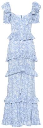Caroline Constas Iva floral stretch-cotton dress