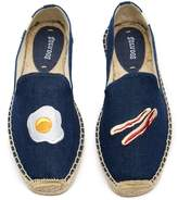 Soludos Eggs & Bacon Embroidered Slip-On Espadrille