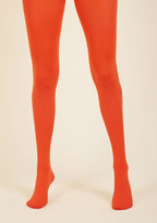 Accent Your Ensemble Tights in Persimmon in S
