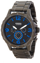Fossil Men&s Nate Chronograph Bracelet Watch
