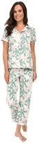 BedHead Short Sleeve Cropped Bottom Pajama Set