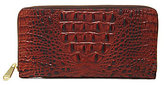 Brahmin Melbourne Collection Skyler Croco-Embossed Travel Wallet