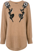 Markus Lupfer Rose Intarsia sweatshirt