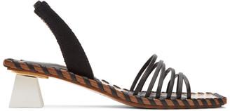Jacquemus Black Les Sandales Valerie Heeled Sandals