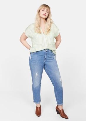 MANGO Check-pattern blouse
