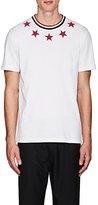 Givenchy Men's Star-Appliquéd Cotton Cuban-Fit T-Shirt