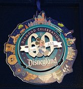 Disney Disneyland Mickey 60th Diamond Celebration Ornament