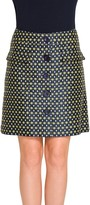 Max Studio Diamond Jacquard Button Front Skirt