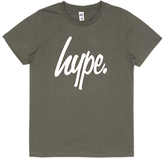 Hype Boys' Big Logo Short Sleeve T-Shirt, Olive