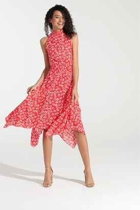Sam Edelman Floral Handkerchief Hem Dress