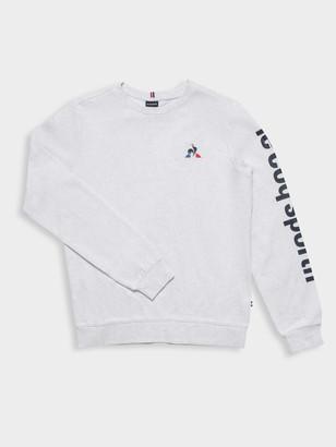 Le Coq Sportif Pierre Pullover Sweater in Grey Marl