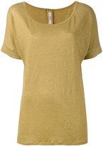 Humanoid classic T-shirt - women - Linen/Flax - S