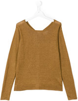 Hartford Kids - lightweight knit jumper - kids - Linen/Flax - 16 yrs