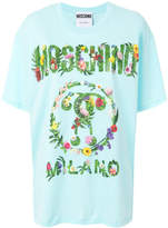 Moschino graphic tropical flower printed T-shirt