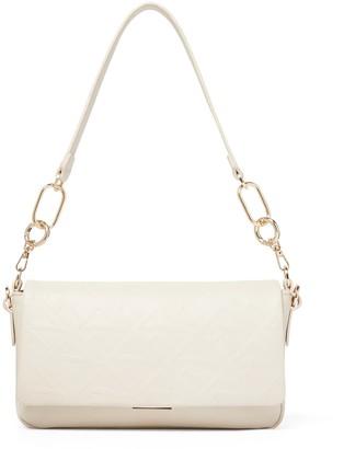 Forever New Ava Embossed Shoulder Bag - Porcelain - 00
