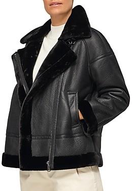 Whistles Ultimate Faux Fur Biker Jacket