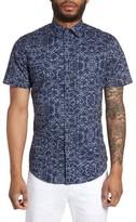 Slate & Stone Men's Slim Fit Print Sport Shirt