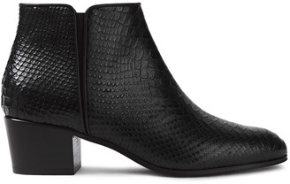 Giuseppe Zanotti Nicky Snake-effect Leather Ankle Boots