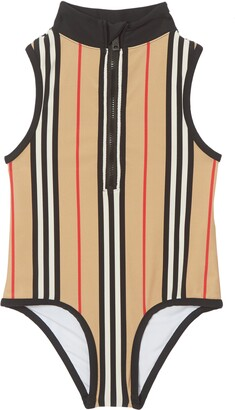 Burberry Siera One-Piece Zip Swimsuit