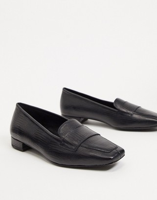 Vagabond Layla leather flat loafers in black