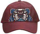 Kenzo Tiger Canvas Bordeaux Cotton Cap