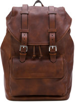Brunello Cucinelli front pocket backpack - men - Leather - One Size