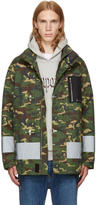 Palm Angels Green Camo Firemen Jacket