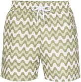 Frescobol Carioca wave stripe swimming shorts