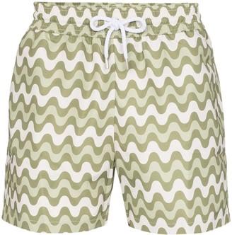 Frescobol Carioca Wave Stripe Swimming Shorts