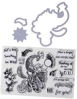 Little Darlings Art-Z Peacock Stamps and Dies