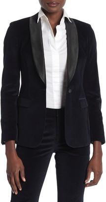 SUISTUDIO Cameron Velvet Shawl Collar Blazer