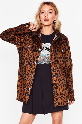 Nasty Gal Womens Leopard It Through the Grapevine Petite Jacket - Brown - 4