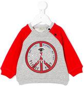 Kenzo peace logo sweatshirt - kids - Cotton/Polyester - 18 mth