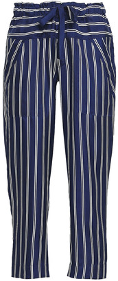 Joie Striped Silk-twill Straight-leg Pants