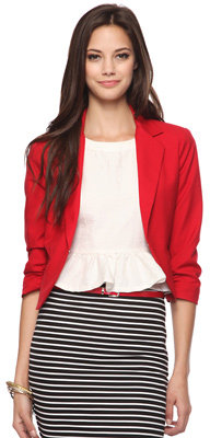 Forever 21 Ruched Sleeve Blazer