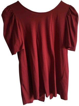 BA&SH Bash Spring Summer 2018 Red Cotton Top for Women