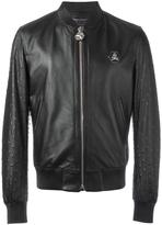 Philipp Plein 'Opinion' bomber jacket - men - Lamb Skin/Polyamide/Acetate/Viscose - L
