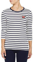 Tommy Hilfiger Stripe Heart Badge Tee 3/4 Slv