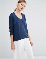 Vero Moda Long Sleeve Top in Blue