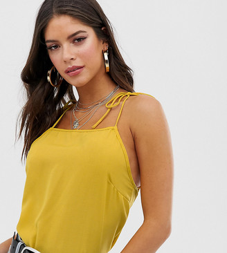 Fashion Union Tall tie sleeve cami top