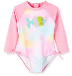 Little Me Baby Girls Fish 1 piece Long Sleeve Rashguard