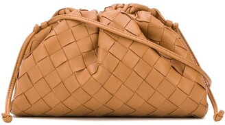 Bottega Veneta intrecciato woven The Pouch clutch