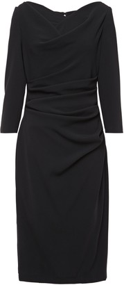 Talbot Runhof Kora Draped Stretch-crepe Dress