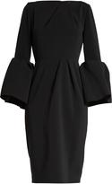 Roksanda Margot bell-sleeved crepe dress