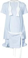 Sacai Short Striped Dress with Tie