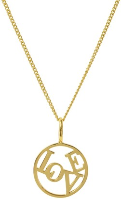 Katie Mullally Love Medallion Yellow Gold Plated Necklace
