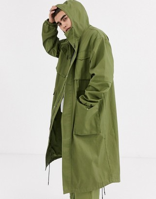 ASOS oversized parka in green