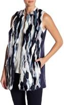 T Tahari Dorinda Faux Fur Vest