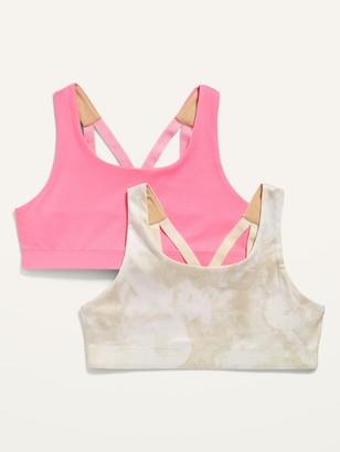 Old Navy 2-Pack Go-Dry Strappy Sports Bra for Girls