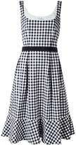 Blumarine checked flared dress